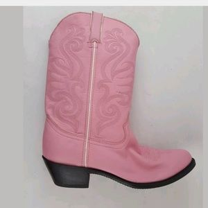 Durango Cowgirl Western Boots Pink Leather 10M